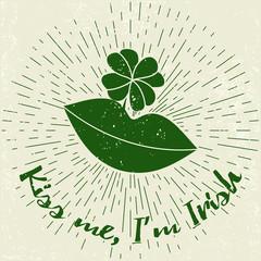 Saint Patricks Day design elements