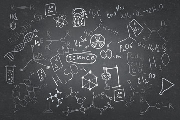Set of chemistry sketches