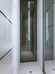 Shower in a minimalist style