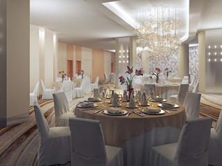 Ballroom, banquet hall in restaurant