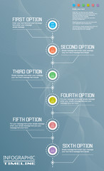 INFOGRAPHIC TIMELINE TEMPLATE MODERN STYLE