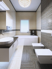 Elegant bathroom in private house