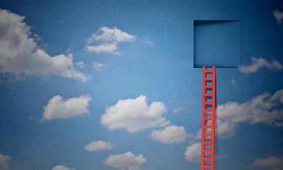 Door in blue sky