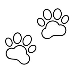 Animal Tracks line icon
