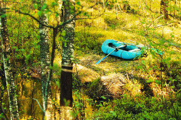 Rubber Boat On The Shore