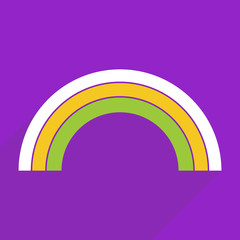 Flat design with shadow and modern icon rainbow