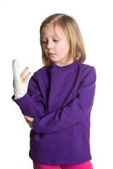 girl patient with broken finger girl patient with broken finger