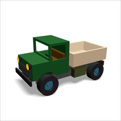 3D truck icon . Vector illustration.