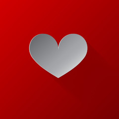 Valentines day heart background. Vector illustration.