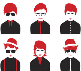 Avatar various boys faces