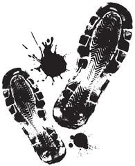 black shoe prints
