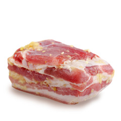 Pork meat isolated on white background