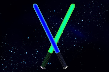lightsaber in space