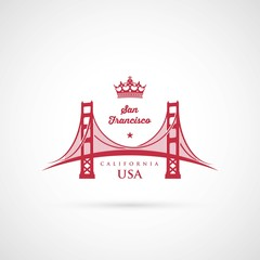 San Francisco Golden Gate bridge symbol