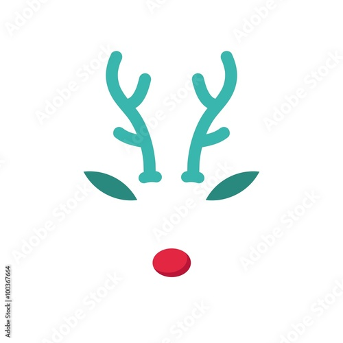 reindeer with red nose template stock image and royalty free vector