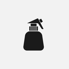 spray the flower black icon