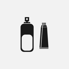 toothpaste mouth wash black icon