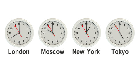 Timezone wall clocks