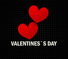 red hearts love design