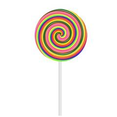 Big isolated lollipop