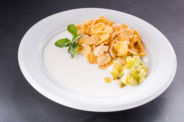 Table Breakfast - Continental Breakfast, fruit, cereals