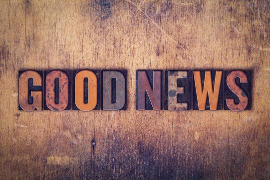 Good News Concept Wooden Letterpress Type