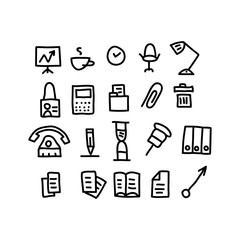 office doodles Icons.vector illustration.