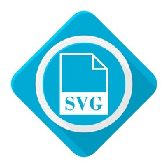 Blue icon svg file with long shadow