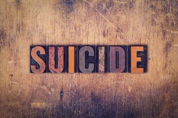 Suicide Concept Wooden Letterpress Type