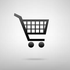 Shopping cart black icon