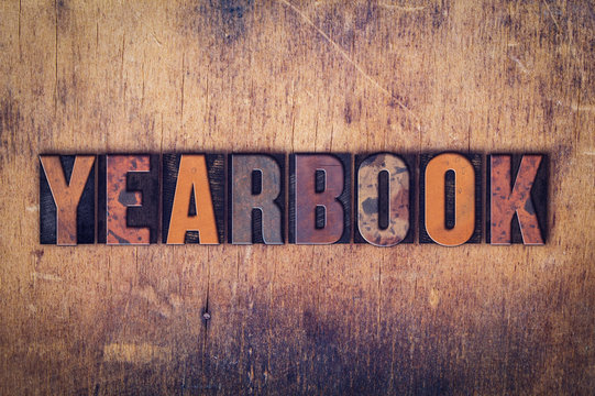 Yearbook Concept Wooden Letterpress Type