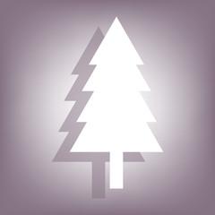 fir-tree . line vector icon
