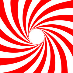 Red white swirl abstract vortex background. Vector illustration