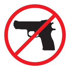 No Guns Allowed Sign.