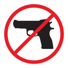 No Guns Allowed Sign.