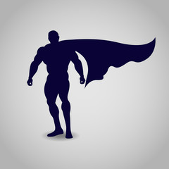 Superhero, icon, vector illustration