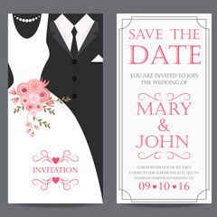 bride and groom,wedding invitation card