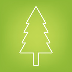 New year tree line icon