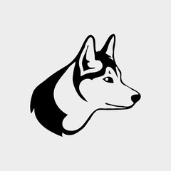 Logo with head of a wolf