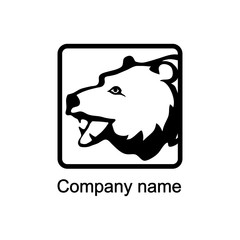 Logo with head of a bear