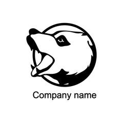 Logo with head of a bear