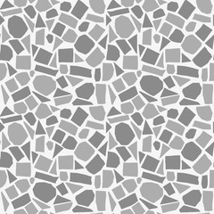 Random geometric background. Seamless pattern.Vector. ランダムな形のパターン