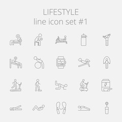 Lifestyle icon set.