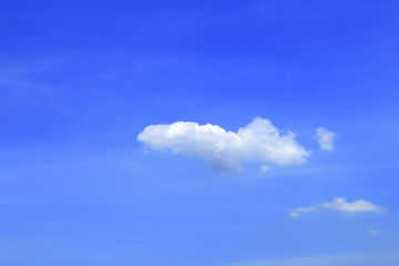 Sky and cloudy, blue sky, sunshine, sun in Thailand.