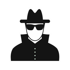 Man in black sunglasses and black hat