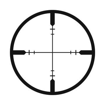 Crosshair black simple icon