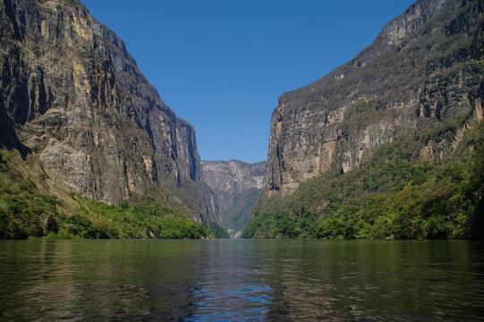 Inside Sumidero Canyon near Tuxtla Gutierrez in Chiapas, Mexico