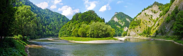 Foto op Aluminium Rivier Dunajec river in Pieniny mountains, Poland