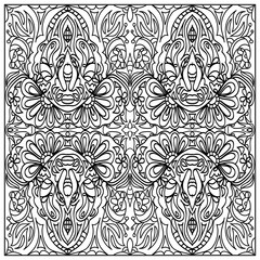 Decorative coloring page