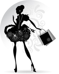 Elegant woman shopping